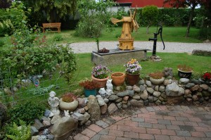 Et kig ud i haven